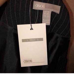 ASOS Jackets & Coats - ASOS Tall Pinstripe Blazer in Black
